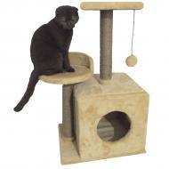 Будиночок-кігтеточка Буся з полицею 36х46х80см для кішки Бежевий