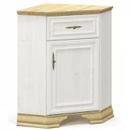 Комод Мебель-Сервис Ирис угловой из ДСП Белый с натуральным