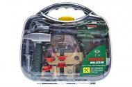 Ігровий набір інструментів A-Toys в саквояжі 29,5х27х7,5 см Сіро-зелений (G215)