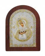 Икона Божией Матери Остробрамская Agio Silver 20x15 см серебро 925° с позолотой Коричневый
