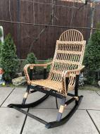 Крісло-гойдалка Woody 1 розбірна для саду Бук/Ротанг штучний  Венге/Натуральний