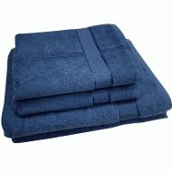 Полотенце махровое джинс 50*90 см ( бордюр сатин) ТМ Аиша