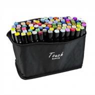 Набор двусторонних скетч маркеров Touch Raven 80 шт. на спиртовой основе (ART 7752)
