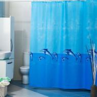 Штора для ванної Miranda WAVY 180х200 см Блакитний (12584)
