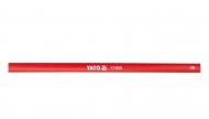 Карандаш столярный YATO L 245 мм х 12 мм 144 шт Красный (YT-6926)