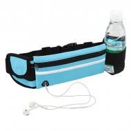 Спортивная сумка RunningBag  для бега на пояс c карманом на бутылку Blue 361564323