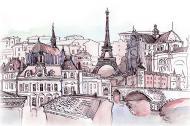 Картина на холсте Париж 150x100 смLaPrint Натуральный холст (200234)