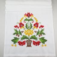 Рушник свадебный льняной Галерея льна Дерево счастья-2 43х220 см Белый с цветной вышивкой (82-06/415/000/76)