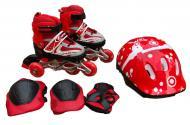 Роликовые коньки с защитой In Lin Skate р. S 29-33 Красный (129BTD-1)