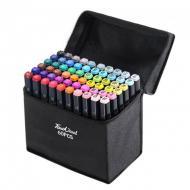 Набор маркеров для рисования двусторонние Touch Raven 60 шт. Черный
