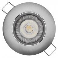Світильник точковий Emos 5W LED ZD3221 поворотний Cрібний матовий