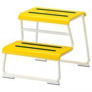 Табурет-лестница IKEA GLOTTEN Желтый/Белый 302.713.68