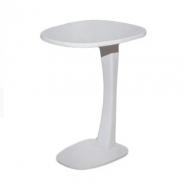 Напольный стол подставка  Мiкс Мебель Клео дерево/МДФ Белый