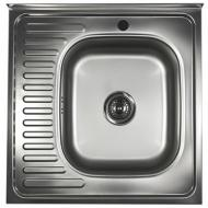 Мийка кухонна накладна Еверест 6644 чаша Права 60х60х14 см товщина 0.4 мм (00436)