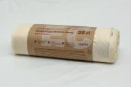 Пакеты для мусора 35 л 15 шт. биоразлагаемые компостирующие 50х60 мм