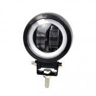 Фара LED кругла 20W з LED кільцем та strobe light