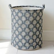 Кошик для білизни Berni Home Trees тканинний з ручками Сірий (43454)