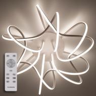 Люстра світлодіодна Luminaria Ліана з пультом 80 Вт Білий (01377)