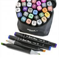 Набор скетч-маркеров Touch Raven 36 цветов + Черная сумка-чехол