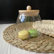 Ємність для зберігання DS Bamboo скляна з бамбуковою кришкою 750 мл 1 шт.