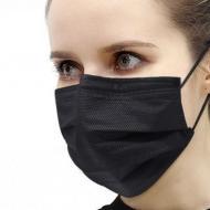 Медична маска тришарова 50 шт Чорний