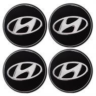 Наліпки на ковпаки колес Hyundai 90 мм