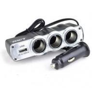 Розгалужувач прикурювача USB HLV Triple Socket WF-0120