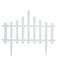 Комплект огорожи для газону Алеана Парканчік 65х55 см 4 секції Білий Флок
