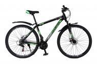 """Велосипед Champion Spark 2021 27,5"""" рама 48 см Чорний/Зелений"""