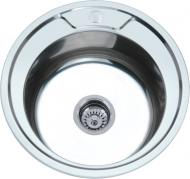 Мойка кухонная Platinum 490 полировка 0,6 мм (490-06P)