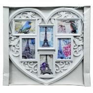 Мультирамка-фоторамка Сердце LOVE узорная (313)