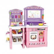 Велика дитяча кухня Be In Fun з дошкою для малювання та аксесуарами 66 шт. Рожева
