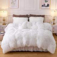 Одеяло всесезонное Grass Травка Мех плюшевое 210х230 см Белый