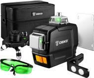 Профессиональный лазерный уровень нивелир Deko DKLL12PB1 3D 12 линий Зеленый луч