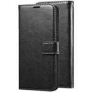 Чохол (книжка) Wallet Glossy з візитниці для Asus ZenFone Max (ZC550KL) Чорний