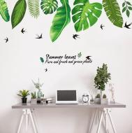 Интерьерная виниловая наклейка на стену Пальмовые листья (XL8362)