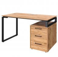 Письменный стол Loft Details L135b Дуб крафт золотой