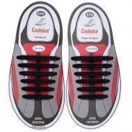 Шнурки силіконові дитячі Coolnice 6+6 12 шт. універсальні Чорний (505)