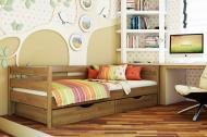 Кровать деревянная детская Нота 190х80 см Светлый орех