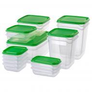 Набір контейнерів для продуктів IKEA PRUTA 17 шт.