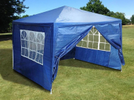 Садовий павільйон шатер з вікнами 3,0х3,0х2,5 м Синій