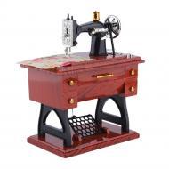 Музыкальная швейная машинка шкатулка Коричневый