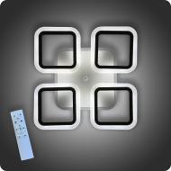 Люстра світлодіодна Vatan Light Квадрати-4m з пультом 72 Вт Чорний (01372)