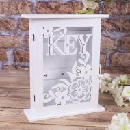 Ключница KEY прорезная 27x22 см Белый  (100293)