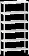 Стелаж металевий 6х100 кг/п 2000х1200х300 мм на болтовому з'єднанні