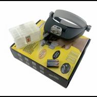 Лупа бинокулярная MG 81001-RD с LED-подсветкой (Imn55 48008)