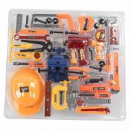 Набір інструментів будівельний Jia Yu Toy з каскою і шуруповертом Помаранчевий (58222)
