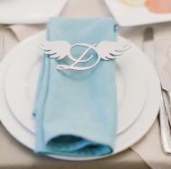 Декор на тарілку Крильця з літерою Manific Decor з дзеркального пластику 20 шт.