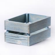 Дерев'яний ящик з рейок Майстерня містера Томаса 12х16х9 см Сіро-блакитний