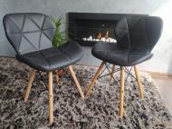 Набор стульев Zano Эко-кожа 2 шт black